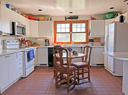 Old Madaket Nantucket vacation rental - Kitchen with microwave.