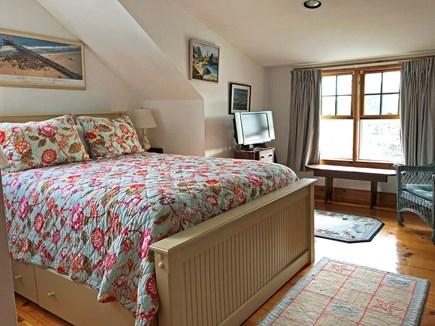 Old Madaket Nantucket vacation rental - Upstairs bedroom queen bed with trundle below.