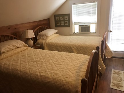 Nantucket town Nantucket vacation rental - Back twin bedroom with door to small shared balcony