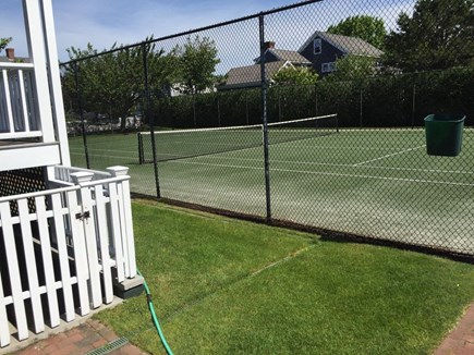 Mid-island, Naushop Nantucket vacation rental - New turf tennis courts directly across the street