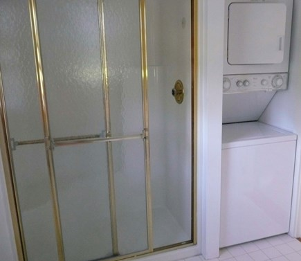 Surfside Nantucket vacation rental - First-floor bath with large shower and stacked washer and dryer