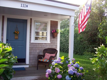 Nantucket town Nantucket vacation rental - Front porch of the cottage with seating to enjoy a book
