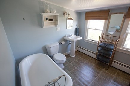 Siasconset, Steps To The Sand Nantucket vacation rental - Upstairs Bathroom with Large Clawfoot Tub