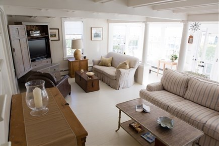 Siasconset, Steps To The Sand Nantucket vacation rental - Large living Area With Two Large Sofas