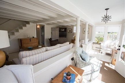 Siasconset, Steps To The Sand Nantucket vacation rental - Living Area/ Sun porch