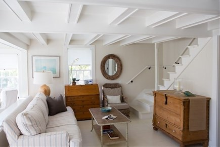 Siasconset, Steps To The Sand Nantucket vacation rental - Living Area/ Open Staircase to Second Floor