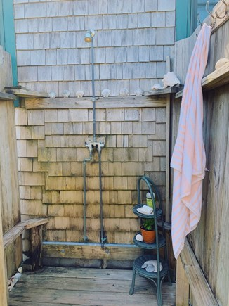 Madaket Nantucket vacation rental - Outdoor shower! Best in the house.