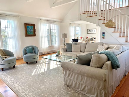 Tom Nevers Nantucket vacation rental - The bright and airy open concept living area is newly furnished.