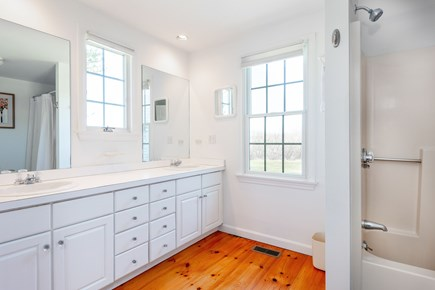 Tom Nevers Nantucket vacation rental - Large master bath with tub and 2  sinks.