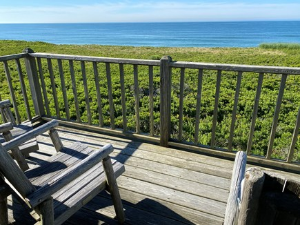 Madequecham Nantucket vacation rental - 1 of 2 decks on the 2nd floor (1 facing ocean, 1 facing sunsets)