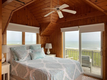 Madequecham Nantucket vacation rental - Master BR. New Q mattress. 2 private decks. Office area. Full BA