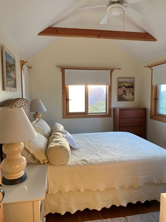 Madequecham Nantucket vacation rental - Pale yellow BR with cathedral ceiling (new Queen mattress)