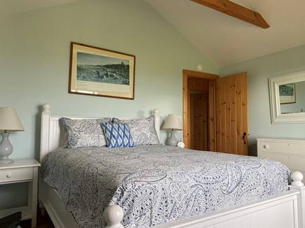 Madequecham Nantucket vacation rental - Blue BR with cathedral ceiling (new Queen mattress)