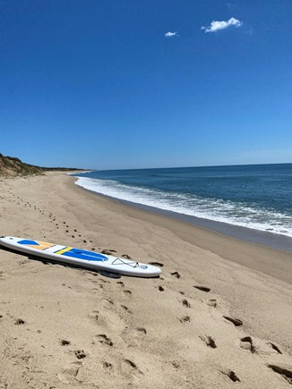 Madequecham Nantucket vacation rental - Quiet beach in front of our house. 3 paddleboards plus beach gear