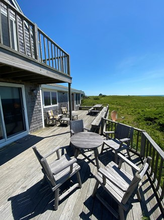 Madequecham Nantucket vacation rental - Large Deck, with 2 dining areas (one seats 10, one seats 4).
