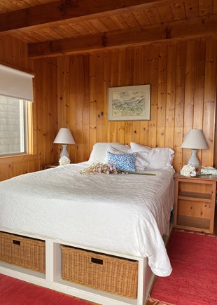 Madequecham Nantucket vacation rental - Queen BR opens to expansive deck, also has desk area