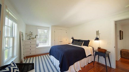 Nantucket town, Lincoln Circle Neighborhood Nantucket vacation rental - First floor bedroom suite with queen bed.