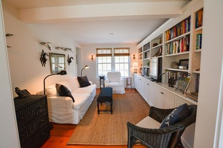 Nantucket town, Lincoln Circle Neighborhood Nantucket vacation rental - Cozy den for reading and watching TV.