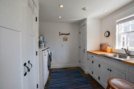 Nantucket town, Lincoln Circle Neighborhood Nantucket vacation rental - First floor laundry room.