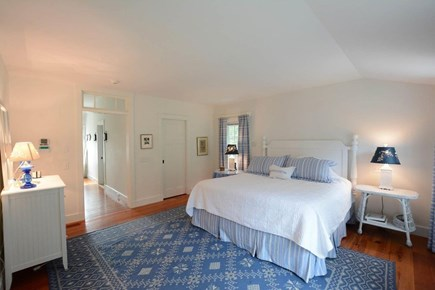 Nantucket town, Lincoln Circle Neighborhood Nantucket vacation rental - Master bedroom suite with king bed.