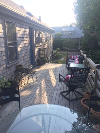 Nantucket town, Nantucket Nantucket vacation rental - Deck looking toward Guest Cottage
