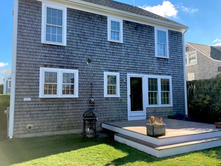 Mid-island, Naushop Nantucket vacation rental - Rear of property - spacious deck with grill.