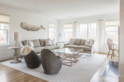 Nantucket town, Cliff area Nantucket vacation rental - Living room with TV, Sonos, gas fireplace