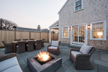 Nantucket town, Cliff area Nantucket vacation rental - Rear patio with Paloform fire pit