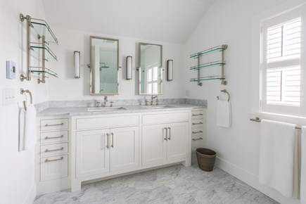 Nantucket town, Cliff area Nantucket vacation rental - Master bath: custom shower with rain head, bench, and hand shower
