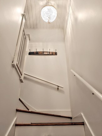 Nantucket town, Town Center Nantucket vacation rental - Entry staircase inside townhouse