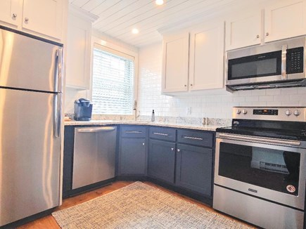 Nantucket town, Town Center Nantucket vacation rental - Kitchen with stainless appliances & full size laundry