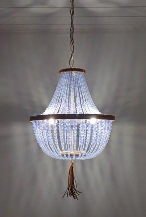 Nantucket town, Town Center Nantucket vacation rental - Ocean blue glass bead chandelier