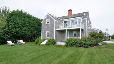 Siasconset Nantucket vacation rental - Large and private back yard with porch and lounge chairs