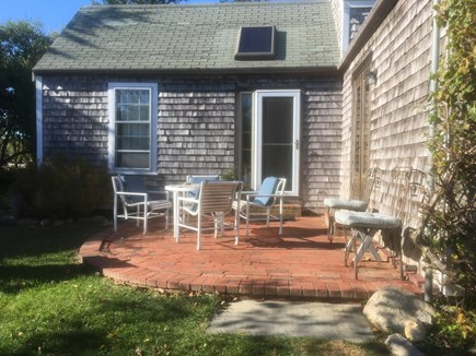 Siasconset Nantucket vacation rental - The brick patio off the kitchen.