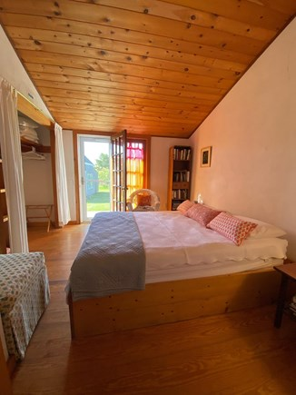 Siasconset Nantucket vacation rental - Middle bedroom with door to large wooden deck