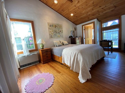 Siasconset Nantucket vacation rental - Master bedroom with door to sunroom visible