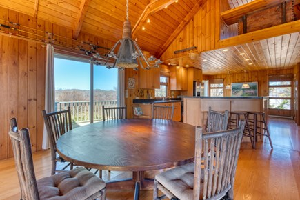 Squam Head Nantucket vacation rental - Dining Table and Open Living Space