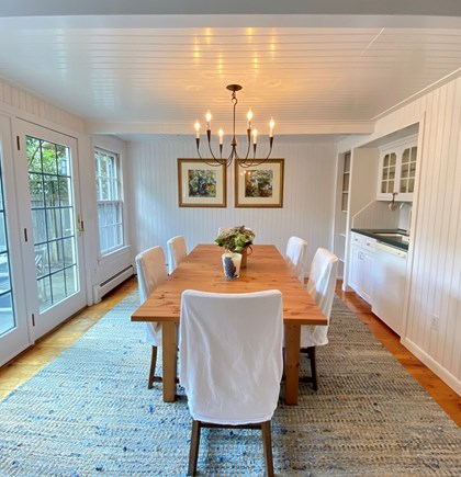 Nantucket town Nantucket vacation rental - Dining room and wet bar with beverage refrigerator