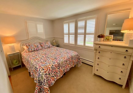 Nantucket town Nantucket vacation rental - Downstairs bedroom with queen bed and front-facing windows