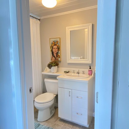 Nantucket town Nantucket vacation rental - Downstairs full bath with bathtub