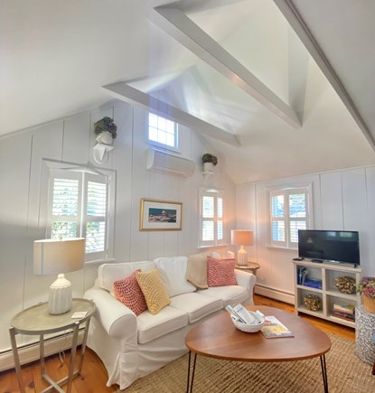 Nantucket town Nantucket vacation rental - Inviting living room, open to the entryway; TV with cable