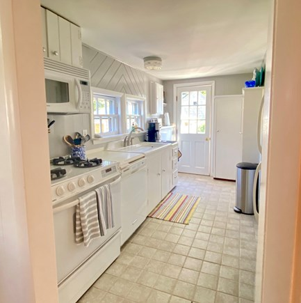 Nantucket town Nantucket vacation rental - Galley kitchen with access to downstairs bathroom