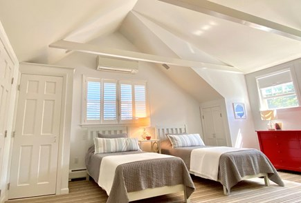 Nantucket town Nantucket vacation rental - Upstairs bedroom with twin bed that can made together as a king