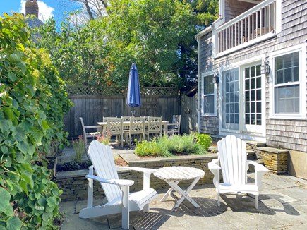 Nantucket town Nantucket vacation rental - Back patios with table for 8, herb garden, and grill