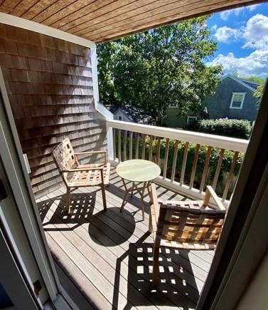 Nantucket town Nantucket vacation rental - Second floor patio off of bedroom with king bed.