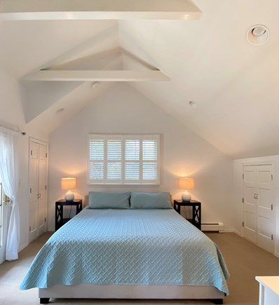 Nantucket town Nantucket vacation rental - Upstairs bedroom with king bed and access to 2nd story patio