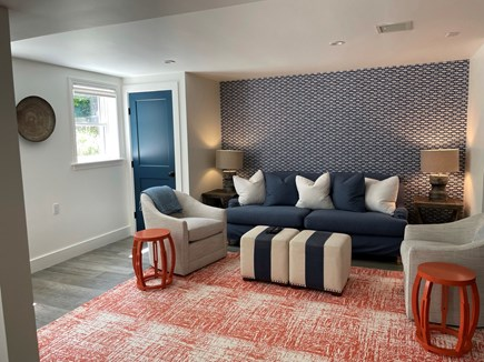 Nantucket town Nantucket vacation rental - Cozy family room w/ tv, refrigerator and bar area (not pictured)