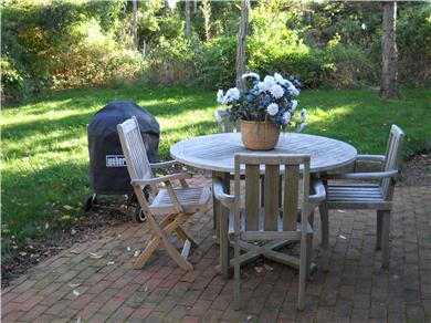 Nantucket Town Nantucket vacation rental - Eat and shower on secluded brick patio with yard.