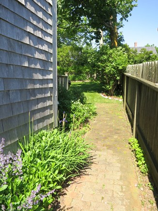 Nantucket town Nantucket vacation rental - Bricked Path to Back Yard