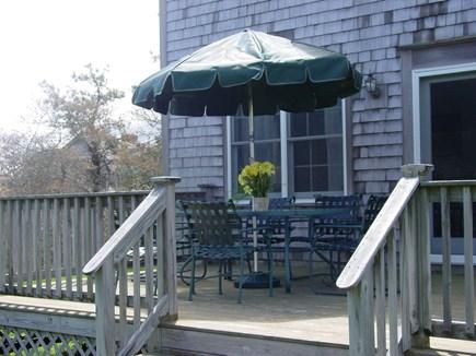 Nantucket town Nantucket vacation rental - Back Deck